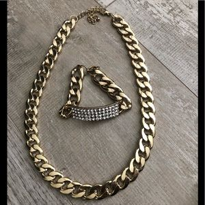 H&M faux gold chain necklace and bracelet